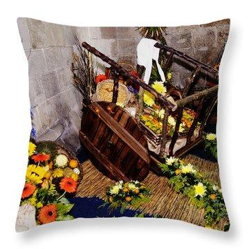 Cartmel Priory Throw Pillows