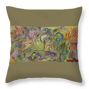 Flower Composition Throw Pillow by Rita Fetisov