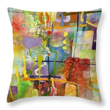 Flower Dance Throw Pillow by Hailey E Herrera