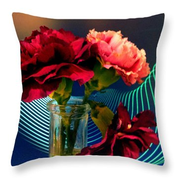 Flower Decor Throw Pillow by Mikki Cucuzzo