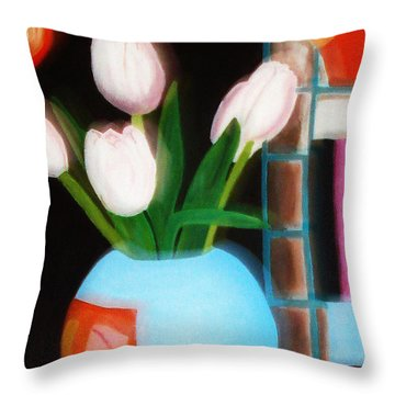 Flower Decor Throw Pillow