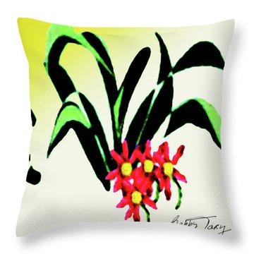 Flower Design #2 Throw Pillow