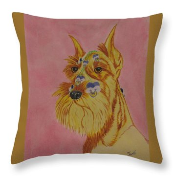 Flower Dog 9 Throw Pillow