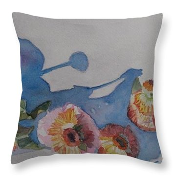 Flower Doll Ball Throw Pillow by Jenny Armitage