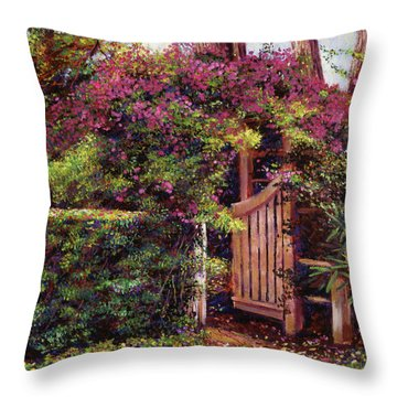 Flower Draped Gateway Throw Pillow