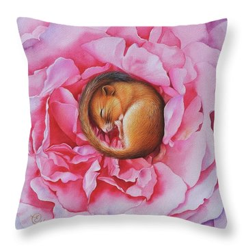 Flower Dreams Throw Pillow