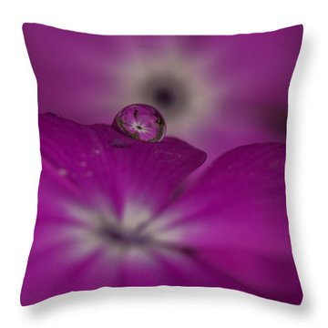 Flower Drop Throw Pillow