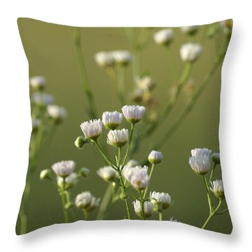 Flower Drops Throw Pillow
