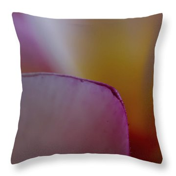 Throw Pillow featuring the photograph Flower Edges by Roger Mullenhour