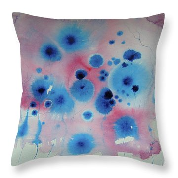 Flower Energies  Throw Pillow