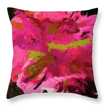 Flower Euphoria Magenta Pink Throw Pillow
