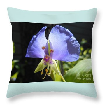 Flower Face Throw Pillow by Felipe Adan Lerma