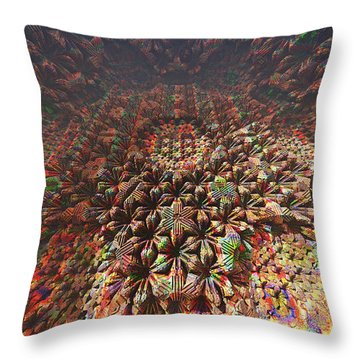 Flower Factory Floor Throw Pillow