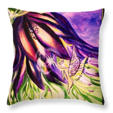 Flower Faerie Throw Pillow