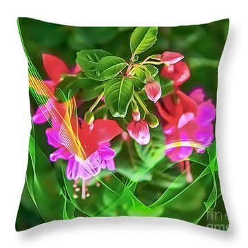 Flower Fantasy Throw Pillow