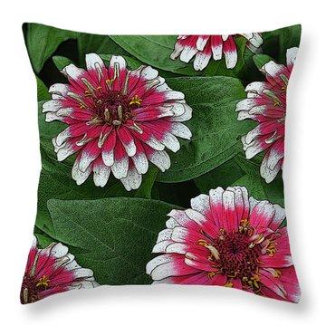 Flower Festival Throw Pillow by Diane E Berry