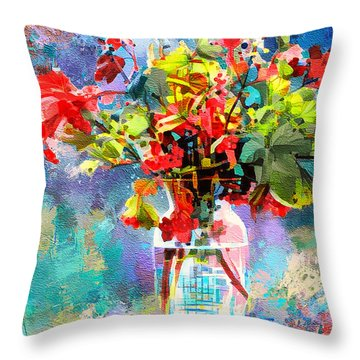Flower Festival Throw Pillow
