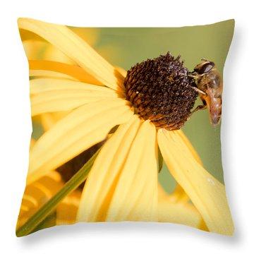 Flower Fly Throw Pillow