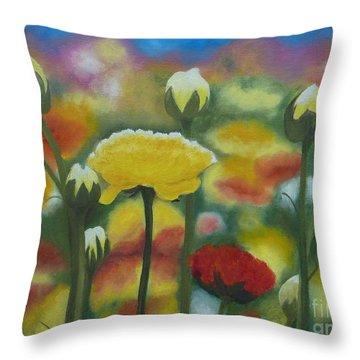 Flower Focus Throw Pillow