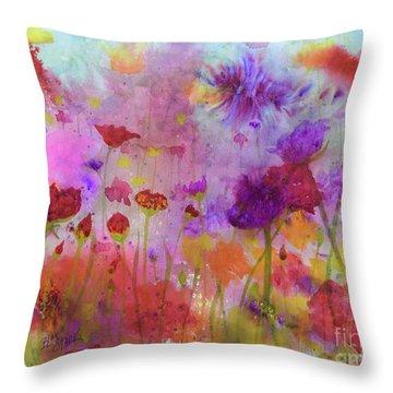 Flower Frenzy  Throw Pillow