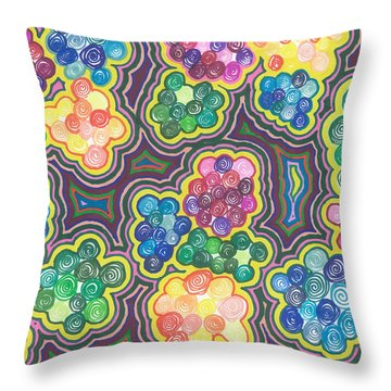 Flower Frenzy Throw Pillow