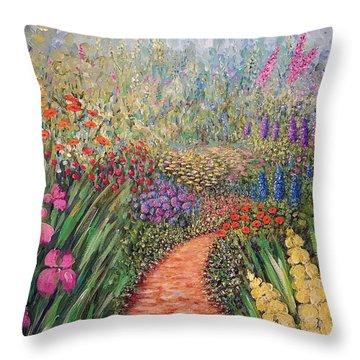 Flower Gar02den  Throw Pillow