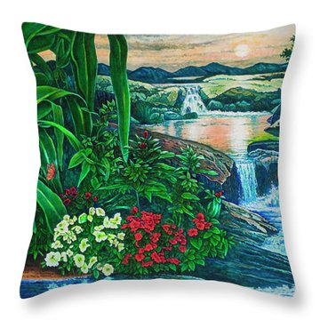 Flower Garden Ix Throw Pillow