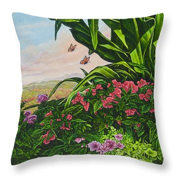 Flower Garden Vii Throw Pillow