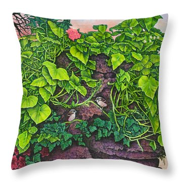 Flower Garden Viii Throw Pillow