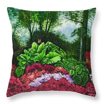 Flower Garden X Throw Pillow