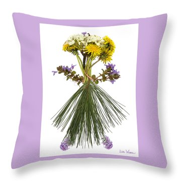 Flower Head Throw Pillow