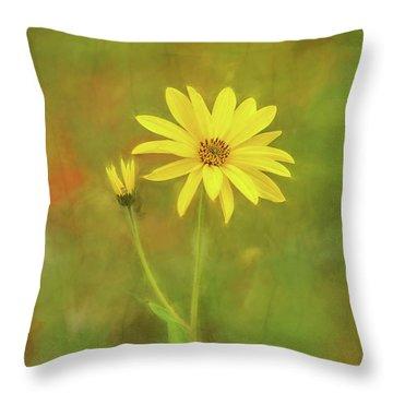 Flower Impression Throw Pillow