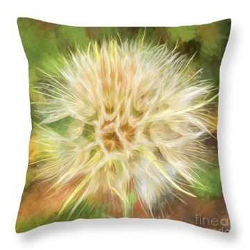 Flower Impressions Throw Pillow