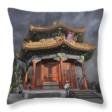 Flower In The City Throw Pillow