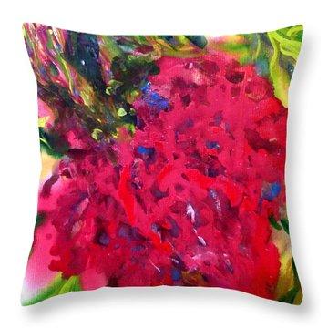 Flower In The Garden Throw Pillow