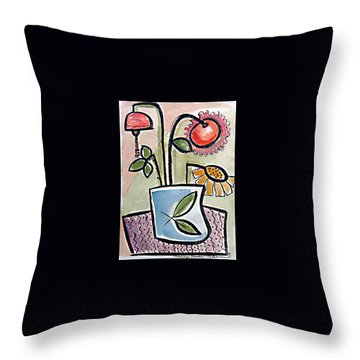 Flower Jug Throw Pillow