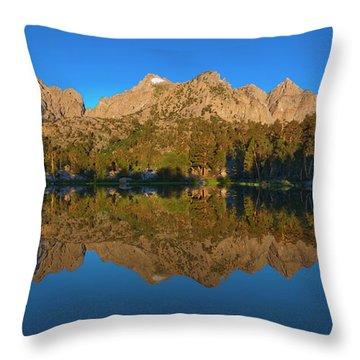 Flower Lake Panorama Throw Pillow