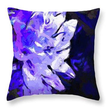 Flower Lavender Lilac Blue Throw Pillow
