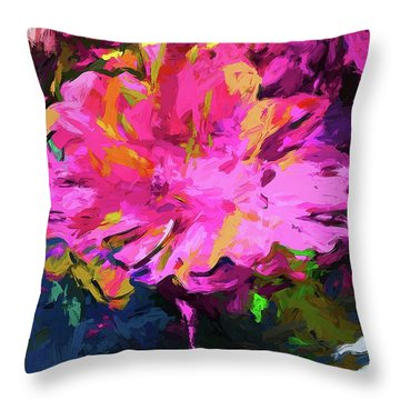 Flower Lolly Pink Yellow Throw Pillow