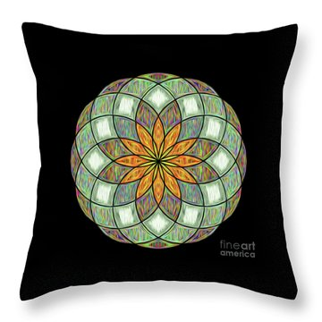 Throw Pillow featuring the digital art Flower Mandala Painted By Kaye Menner by Kaye Menner