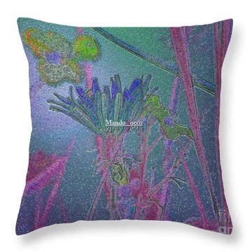 Flower Meadow Throw Pillow