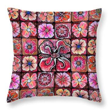 Flower Montage Throw Pillow