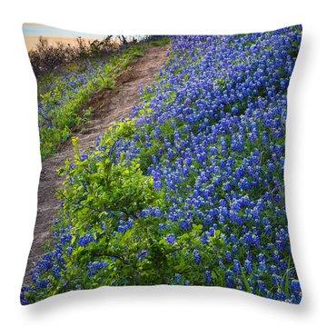 Flower Mound Throw Pillow