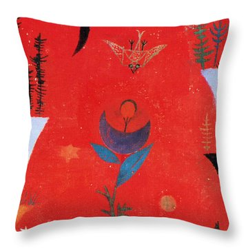 Flower Myth Throw Pillow