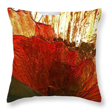 Flower Of Glass Throw Pillow