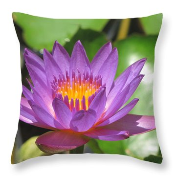 Flower Of The Lilly Throw Pillow