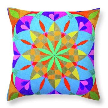 Flower Of Life Mandala Throw Pillow