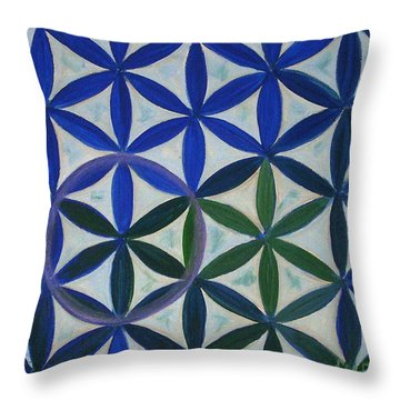 Flower Of Life Pattern Throw Pillow by Art by Kar