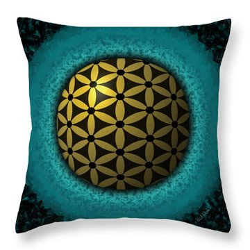 Throw Pillow featuring the digital art Flower Of Life by Vincent Autenrieb