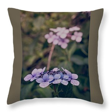 Flower Of The Month Throw Pillow